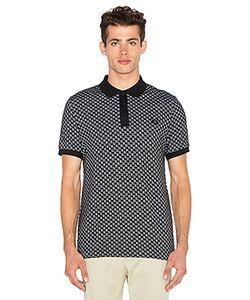 Raf Simons Fred Perry   Square Jacquard Pique Shirt Fred Perry X Raf Simons