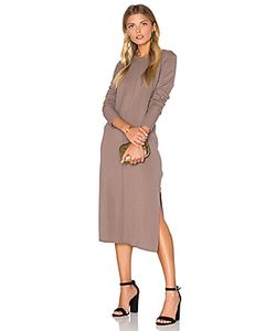 Michael Stars | Cashmere Blend Slit Sweater Midi Dress