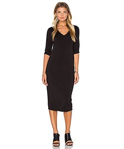 Michael Stars | 3/4 Sleeve V Neck Midi Dress