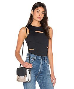T By Alexander Wang | Lux Ponte Slit Top