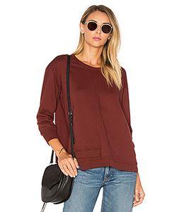 Wilt | Shrunken Overlap 3/4 Sleeve Sweatshirt
