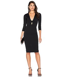 Donna Mizani | Banded Deep V Midi Dress