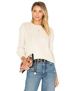 Autumn Cashmere | Boxy Cable Crew Neck Sweater