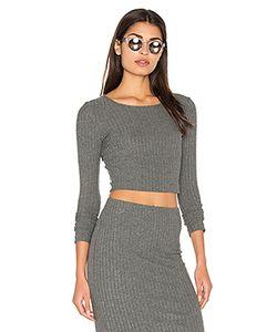 Bella Luxx | Plush Rib Long Sleeve Crop Top