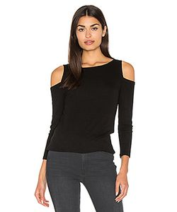 Michael Stars | 2x1 Rib 3/4 Sleeve Cold Shoulder Top