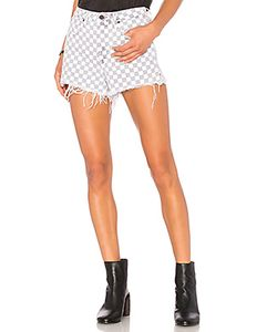 DENIM x ALEXANDER WANG | Bite Checkerboard Short