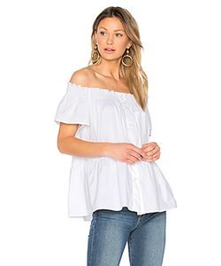 Red Valentino | Off The Shoulder Button Up Top