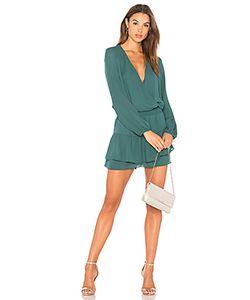 krisa | Платье С V-Образным Вырезом И Ложным Запахом Спереди