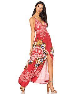 FARM   Макси Платье С Глубоким V-Образным Вырезом