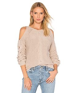 Autumn Cashmere | Cable Cold Shoulder Sweater