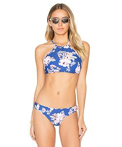 Seafolly | Vintage Wildflower Reversible High Neck Top