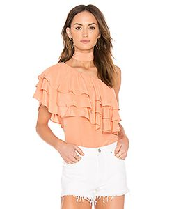 Endless Rose | One Shoulder Ruffle Overlay Top With