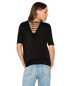 John & Jenn by Line | Alberta Lace Up Back Tee