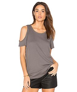 Bobi | Modal Rib Cold Shoulder Tee