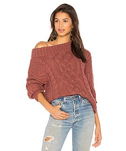 J.O.A. | Off The Shoulder Cable Sweater J.O.A.