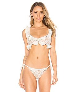 For Love & Lemons | Corsica Lacey Ruffle Top
