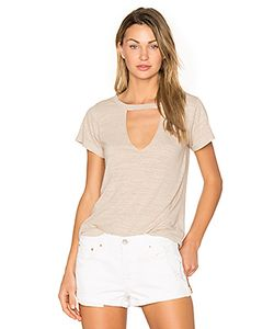 Lna | Short Sleeve Cut Out V Tee