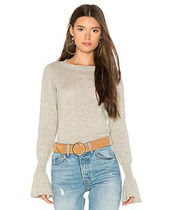 Autumn Cashmere | Ruffle Sleeve Crew Sweater
