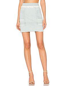 Nicholas | Denim Paneled Skirt