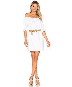 1. STATE | Цельное Платье С Жатыми Рукавами И Открытыми Плечами