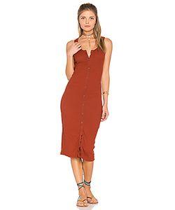 LACAUSA | Платье В Рубчик На Пуговицах