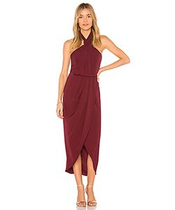 Shona Joy | Платье Миди Knot Draped