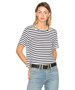 Lna | Stripe Cut Out Crop Tee