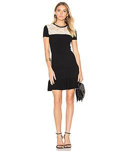 Red Valentino   Short Sleeve Drop Waist Mini Dress