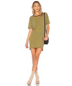 Stateside | Платье С Коротким Рукавом Mustard Stripe