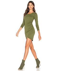 Bobi | Мини Платье С Рюшами И Длинным Рукавом Из Высококачественной Джерси