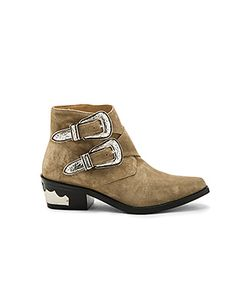 Toga Pulla | Double Bucked Suede Bootie
