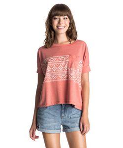 Roxy   Womens Boxy Pocket Boho Border T-Shirt