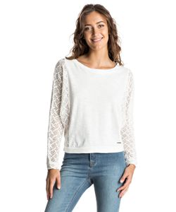 Roxy | Talk To Me Lace Cropped Long Sleeve Top