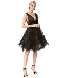 Marchesa | Коктейльное Платье Из Тюля
