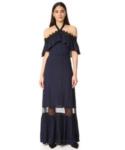 Alice+Olivia | Платье Mitsy С Открытыми Плечами И Американской Проймой