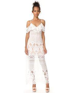 WAYF | Макси-Платье С Открытыми Плечами Luxia