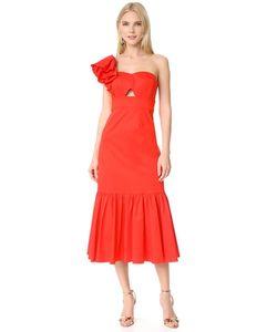 Rebecca Taylor | Платье С Открытым Плечом И Оборками