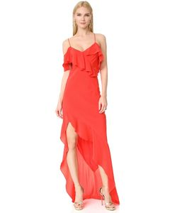 Michelle Mason | Асимметричное Вечернее Платье С Оборками