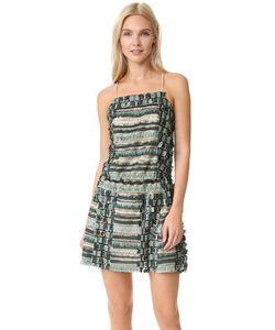 Anna Sui | Платье С Блестками Бахромой И Перекрещивающимся Бретельками На Спине