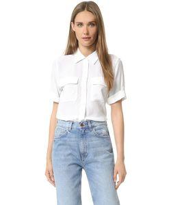 Equipment | Фирменная Узкая Блуза С Короткими Рукавами