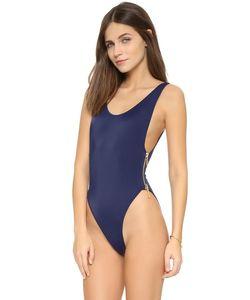 OYE Swimwear | Сплошной Купальник Zissou Со Смелым Овальным Вырезом И Боковой Молнией