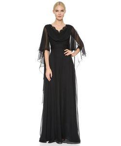 Reem Acra | Вечернее Платье Из Шелкового Шифона С Воротником-Хомутом