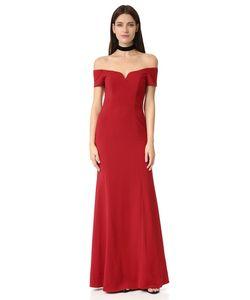 Badgley Mischka | Вечернее Платье С Короткими Рукавами И Открытыми Плечами