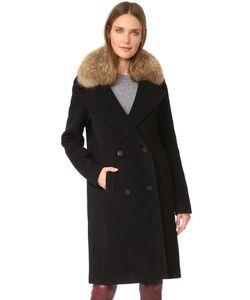 Soia & Kyo | Пальто Farrah С Меховой Отделкой