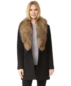 Doma | Шерстяное Пальто Со Съемным Меховым Воротником