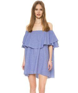 MLM LABEL   Платье Maison В Клетку Гингем С Открытыми Плечами