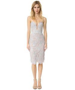 Reem Acra | Платье Из Металлизированного Кружева