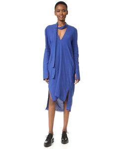 KITX | Удлиненное Сзади Платье С V-Образным Вырезом
