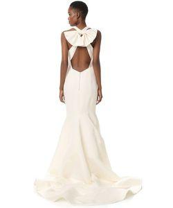 Marchesa | Вечернее Платье Из Плотной Шелковой Ткани