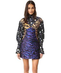 Kenzo | Платье Из Жаккарда С Тигровыми Полосками